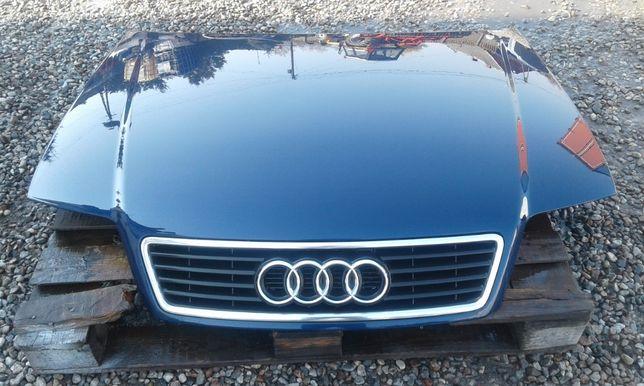 Maska przód pokrywa silnika z grillem AUDI A6 C5 Kolor: LY5K