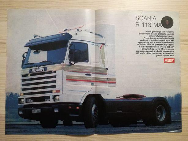Plakat Poster Scania 113M 400 4x2 Streamline 33,5cm x 47,5cm Trucks