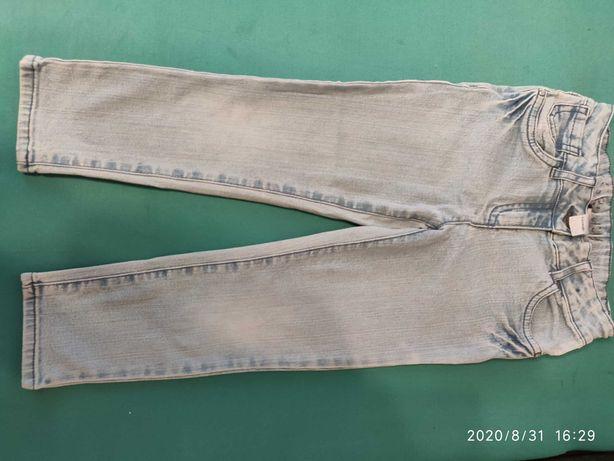 Spodnie dziewczęce jeansowe 110