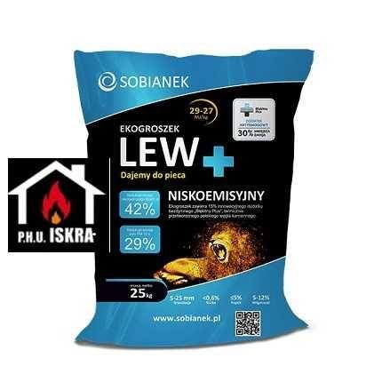 Ekogroszek Lew Plus 29-27 MJ/kg 1000 kg eko-groszek eko LEW PLUS