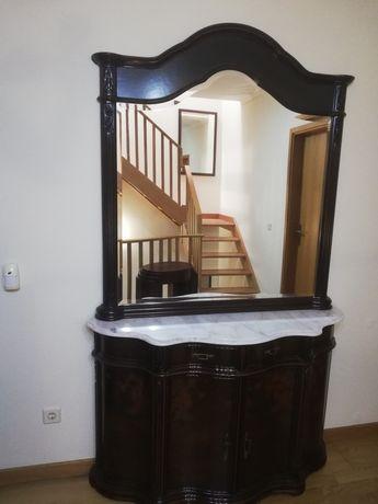 Vendo aparador + espelho em cerejeira