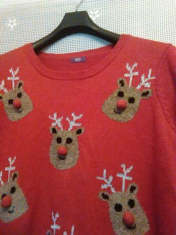 Sweterek Świąteczny 3 xl biust 130 f&f