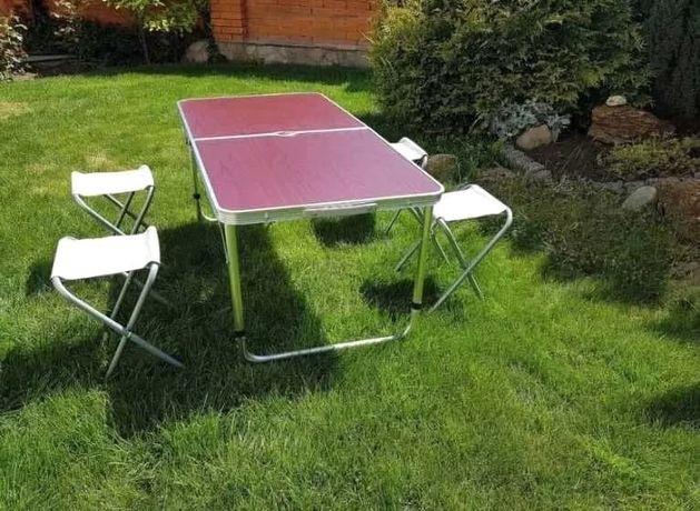 Раскладной Стол Чемодан с 4 стульями Rainberg Для пикника