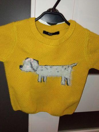 Sweter musztardowy rozmiar 2-3 latka