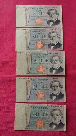 Banknot Włochy 1000lire  1969r.