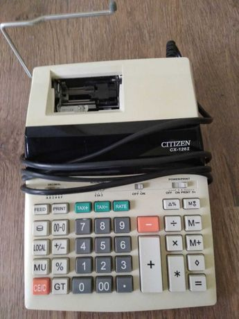 Продам Калькулятор с печатью Citizen CX-126 II , 1000 руб