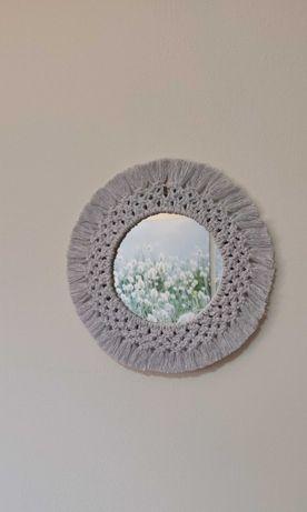 Espelho ROUND em macramé
