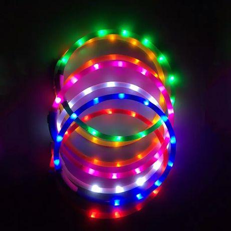 Ошейник светящийся Led с зарядкой USB и ошейники из паракорда