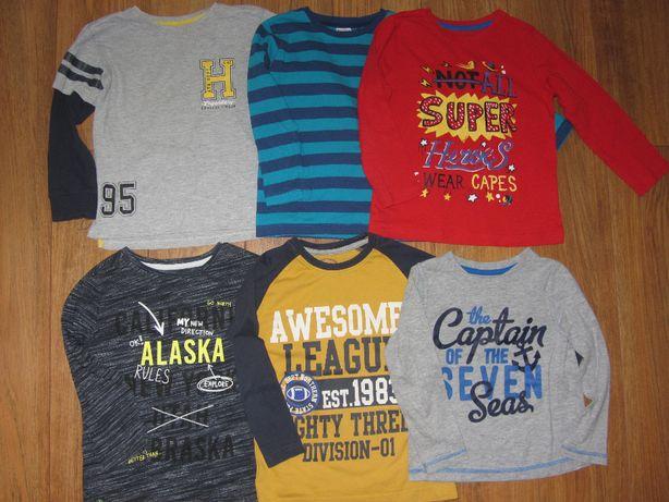 r.104 *REBEL, RESERVED, COOL CLUB* bluzki, T-shirty długi rękaw