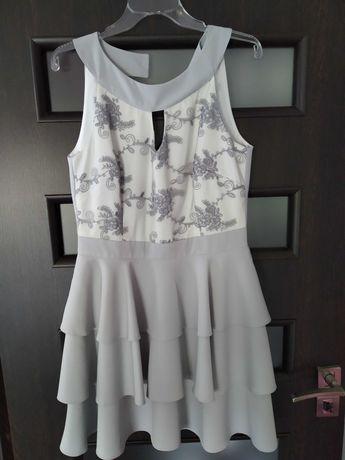 Szara sukienka M/L
