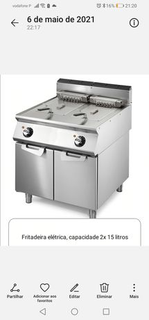 Fritadeira 2x15lts elétrica (nova) com garantia