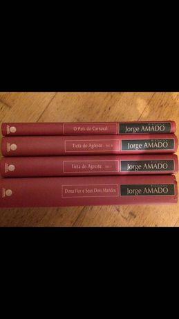 4 Livros coleção rara Jorge Amado, 3€/cada ou conjunto total 10€