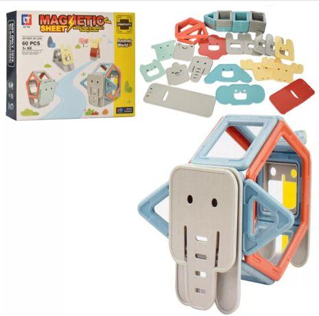Магнитный 3D Конструктор , Цветные Магниты Животные 60 Дет
