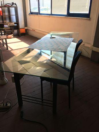 Mesa de trabalho vidro