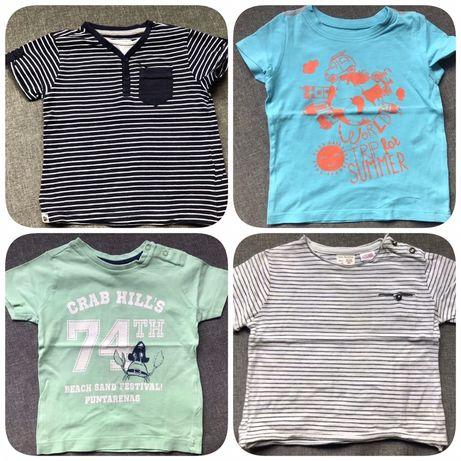 Koszulki chłopięce  Zara/Reserved plus szorty Smyk rozm. 80