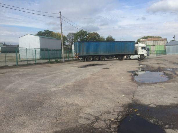 Стоянка грузового транспорта