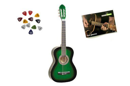 Gitara Klasyczna PRIMA 1/2 GRS +kurs + 3 piórka + DARMOWA WYSYŁKA