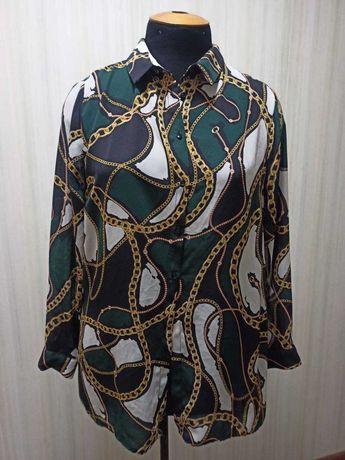 Рубашка с длинным рукавом с принтом цепи