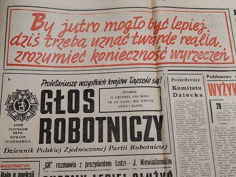 22 grudnia 1981r. Głos Robotniczy. Stan wojenny