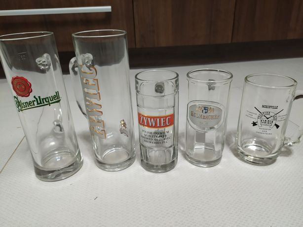 Pokale kufle  do piwa zestaw 18 sztuk