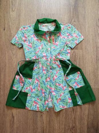 детское платье-халатик на девочку