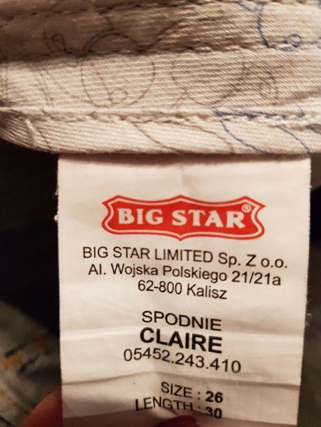 Spodnie dżinsy big star 26/30
