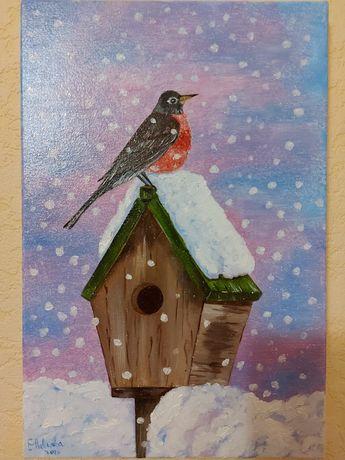 """Картина """"Снегирь"""""""