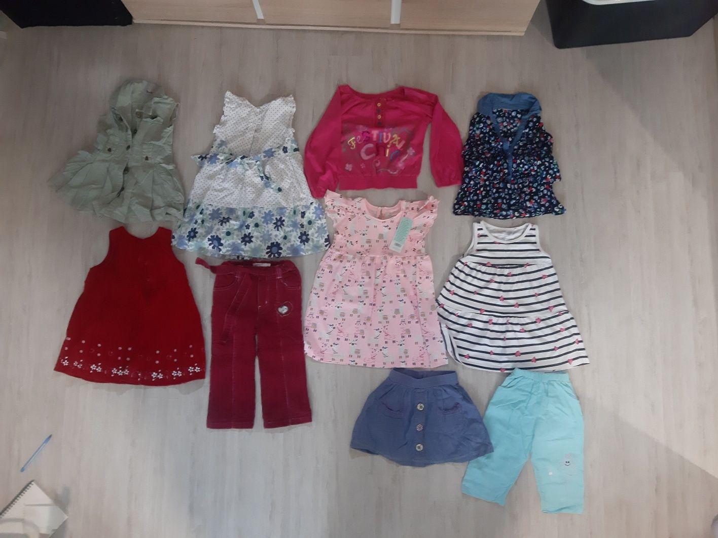 Ubranka dla dziewczynki 17 szt 80,86,92,98