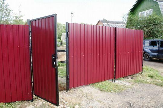 Забор с профнастила, Еврозабор,навес,ворота,калитка, бетонный забор