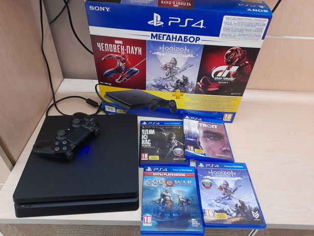 PlayStation 4 slim 1tb + 13 игр ps4