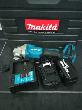 Аккумуляторная болгарка ушм Makita DGA540 brushless(безщеточная) 2 акб
