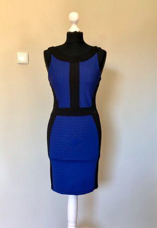 Sukienka bandażowa Mohito czarny, niebieski