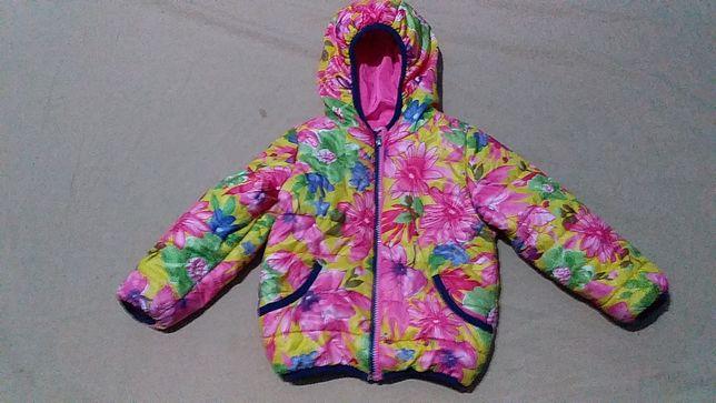 Куртка детская для девочки -весна,осень,на трикотаже- XU kids-4 года.