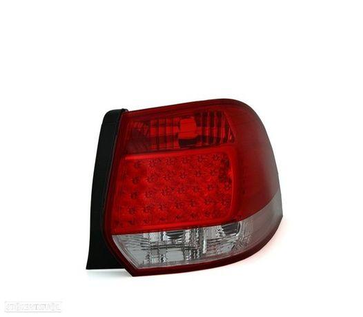 FAROLINS TRASEIROS LED VW GOLF 5 6 VARIANT 07+ VERMELHO BRANCO