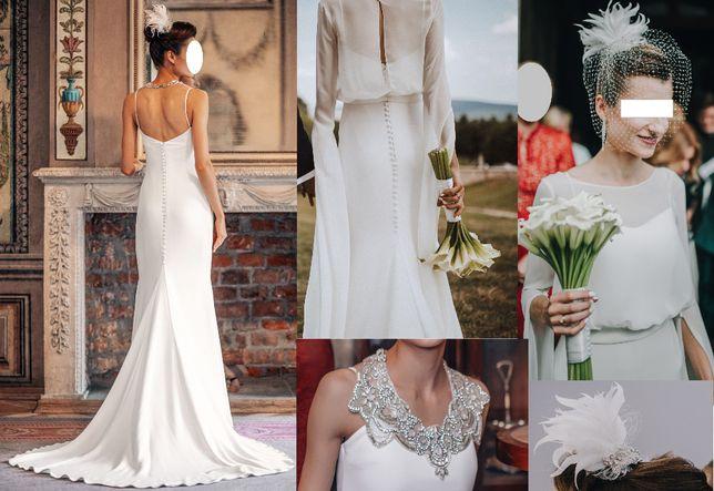 suknia ślubna 2 w 1 - WYJĄTKOWA i NIEPOWTARZALNA