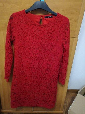 Czerwona koronkowa sukienka mohito