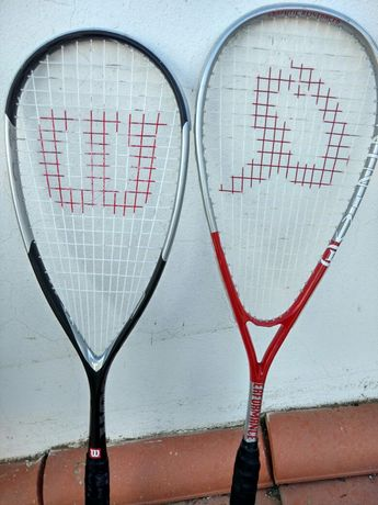 2 Raquetes marca Wilson e performance.