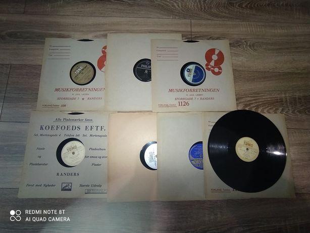 Szelakowe płyty  różnych wykonawców 7 sztuk.