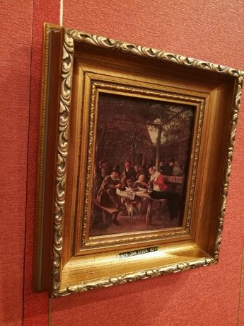 "Obraz ,reprodukcja ""Świat na opak"" Jan Steen 1626+rama"