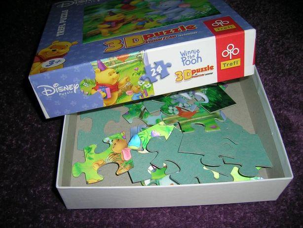 Puzzle 3D Disney Winnie Pooh, miś uszatek 24 elementy firmy Trefl