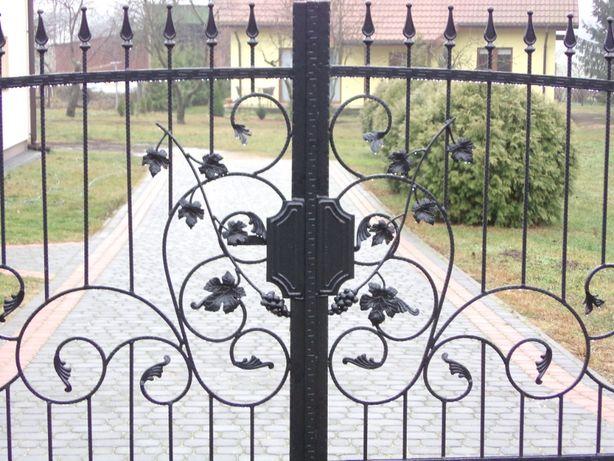 brama bardzo solidna ,kuta wzór 9 MOTYW Z WINOGRONEM PROMOCJA