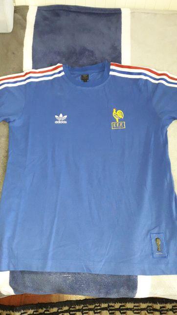 T-shirt Adidas selecçao da França mundial 1974, tamanho S.