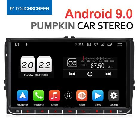 "Radio Nawigacja Android 9.0 VW Skoda Seat 2GB Quad-Core 9"" PROMOCJA!!!"