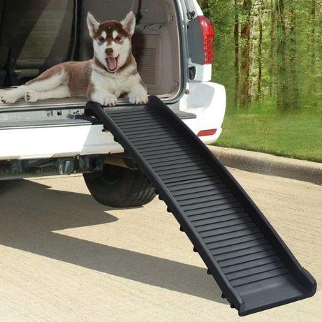 vidaXL Rampa para cães dobrável 155,5x40x15,5 cm preto 170987