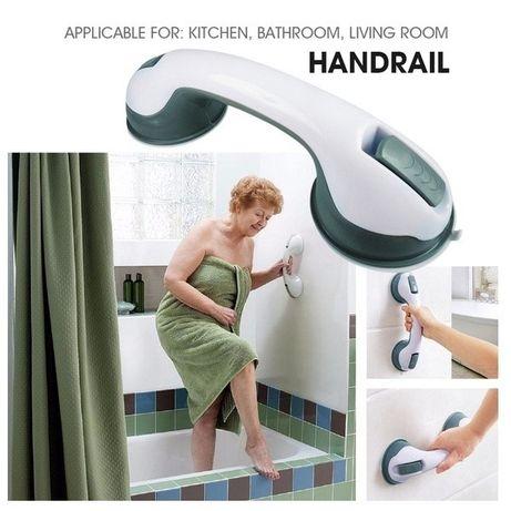 Barra segurança banheiro aderência por sucção alça chuveiro