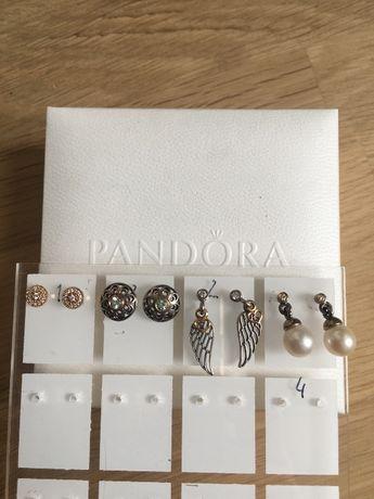 ‼️ Nowe, oryginalne, złote albo TT -złoto/srebrne kolczyki Pandora