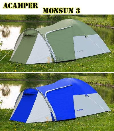 Палатка туристическая Acamper Monsun 3 , двухслойная новая палатка