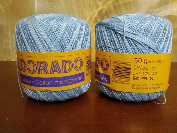 Włóczka wełna Eldorado odcień niebieski 2 sztuki