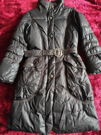 Пальто на пуху , теплое