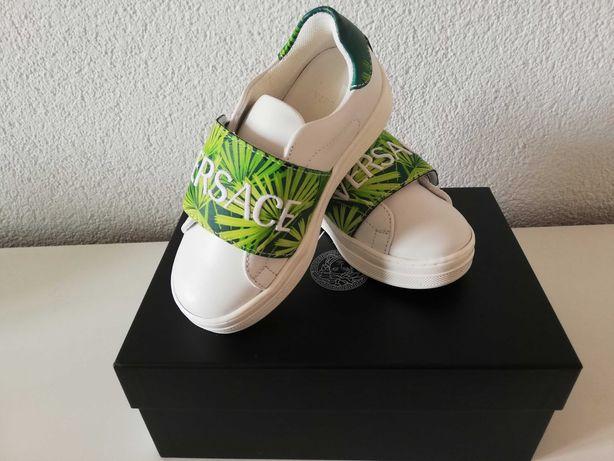 Nowe sneakersy Versace Flash Bambino, oryginalne, skórzane,r. 27!